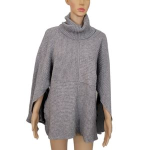 Qi Cashmere Sweater M / L Gray Pullover Wool